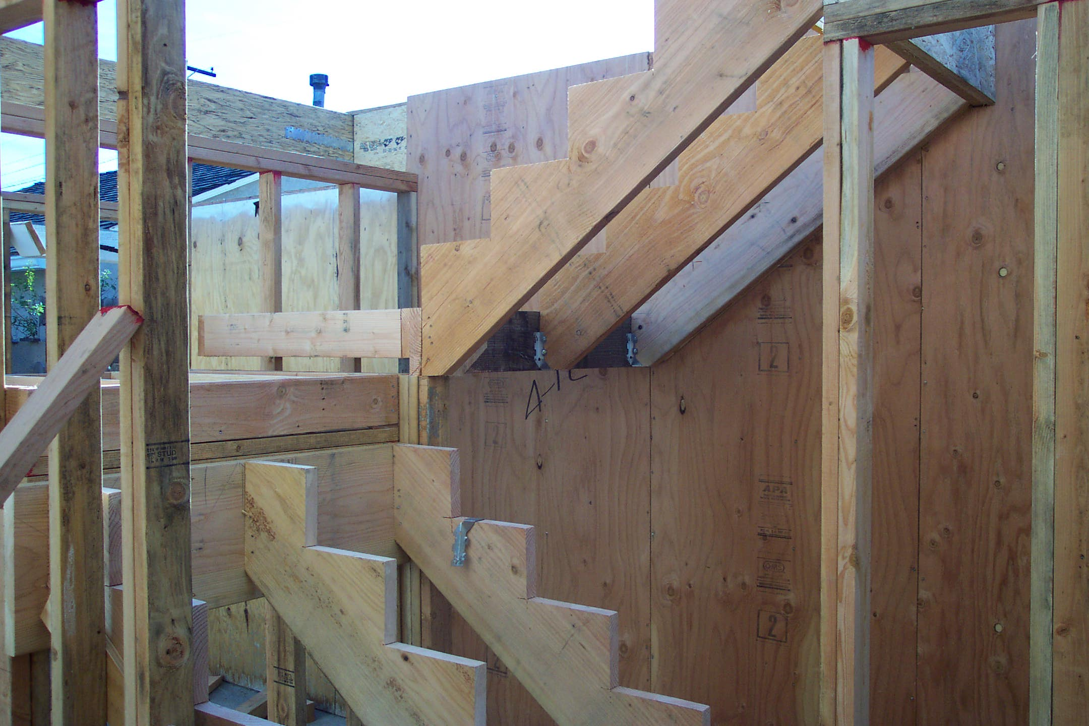 Stair Landing And Stringers In Place