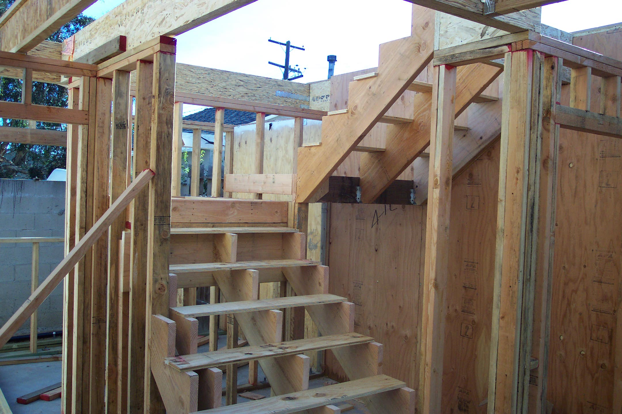 Stairway Framing With Plywood Ri